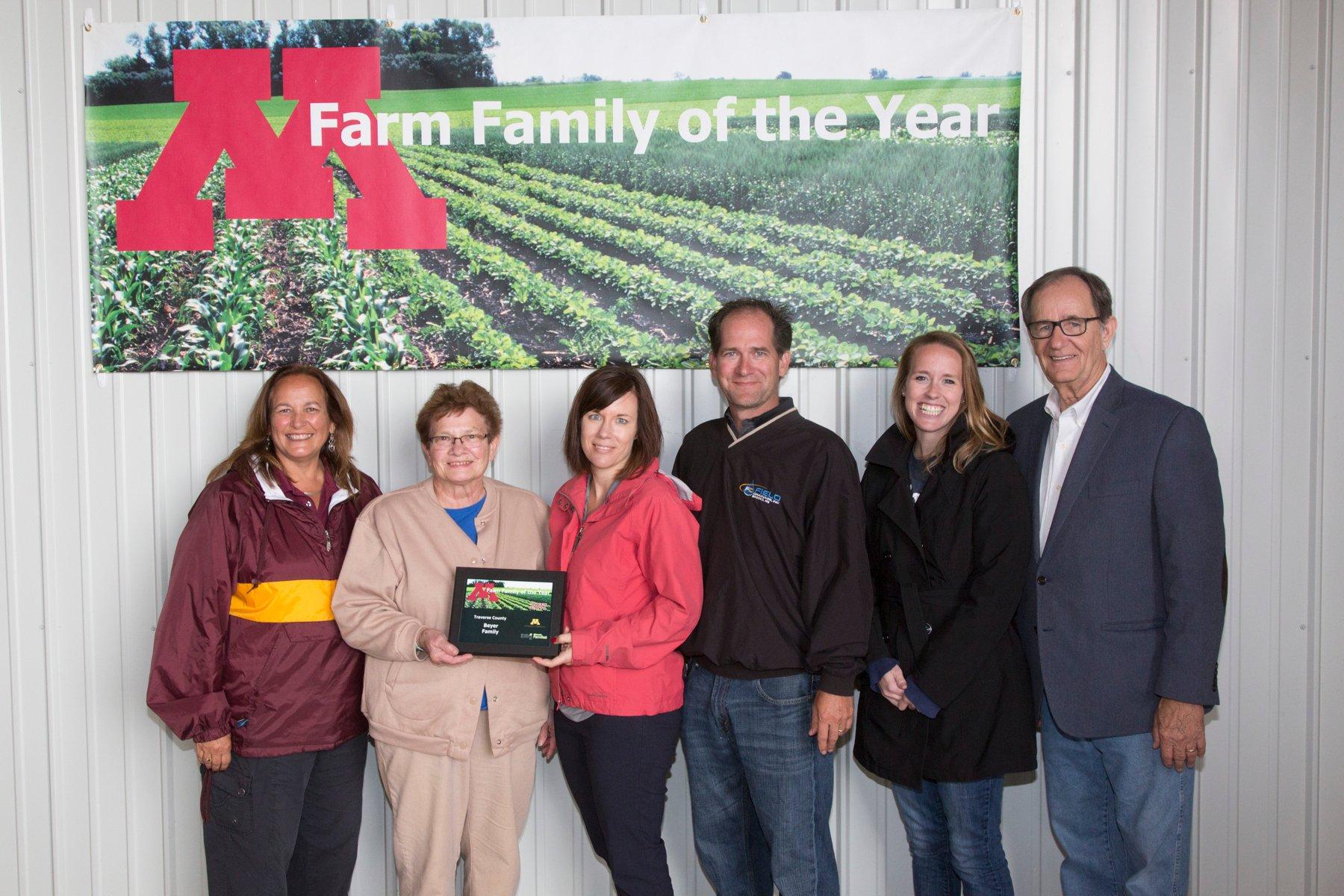 Beyer Minnesota Farm Family of the Year