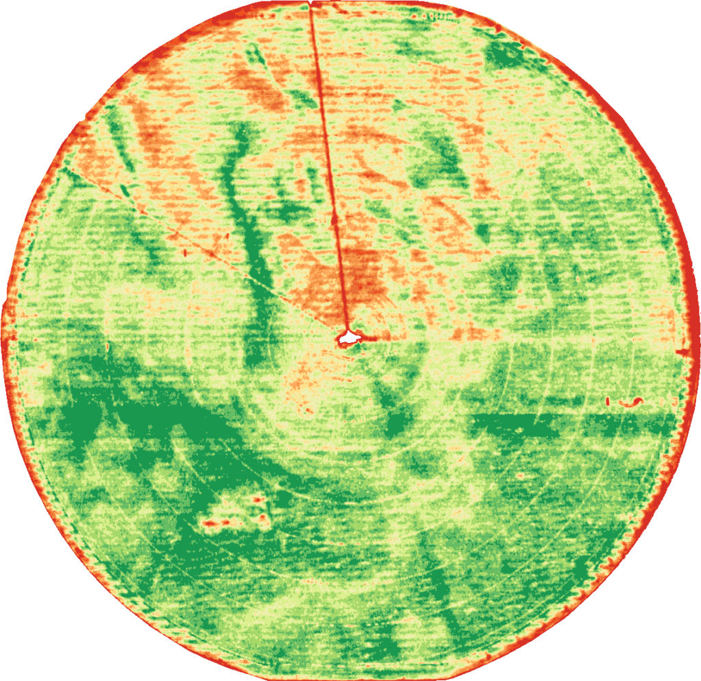 Uniformity issue in chlorophyll imagery